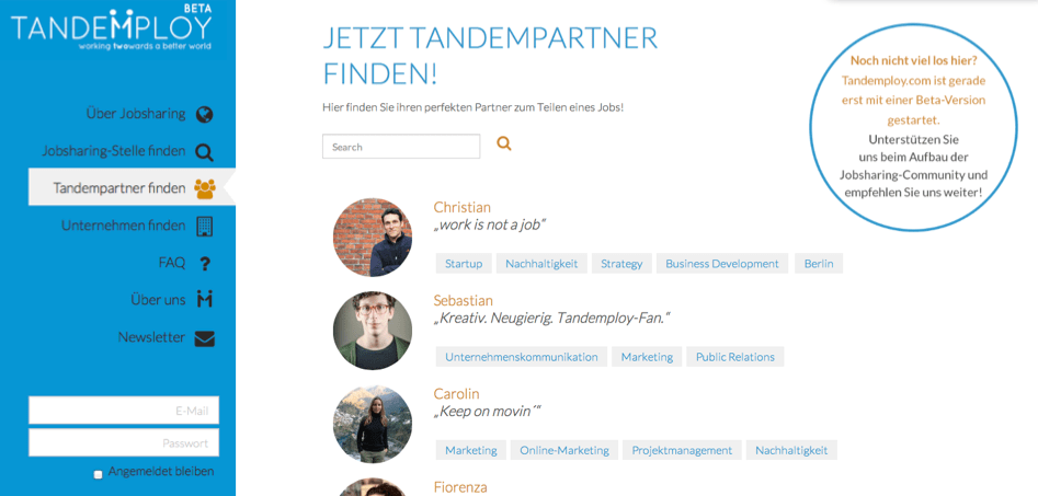 Screenshot_Tandempartner_Börse