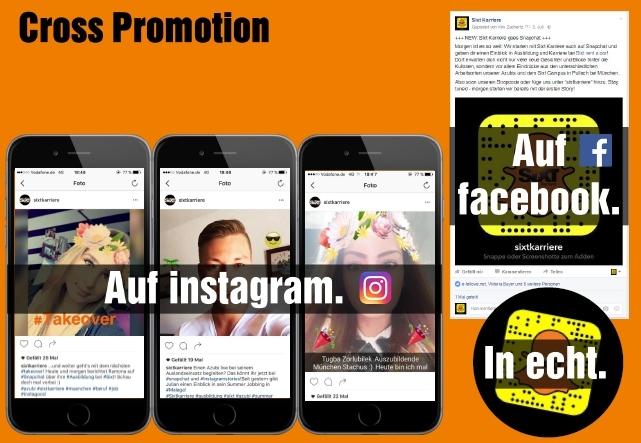 Sixt verbindet seine Social und Digital Aktivitäten und generiert so Follower für Snapchat.
